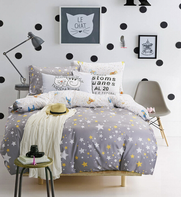 Wonderful 235CM*50CM Geometry Star Cartoon Child Bedding 100% Cotton Fabric Bed Sheets  Baby Bedding