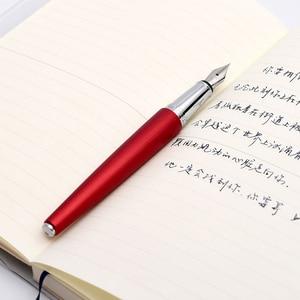 Image 3 - Jinghao KACO BALANCE Series Charming สีแดงเงินคลิป Fountain Pen 0.5mm F Nib หมึกปากกาสำหรับสำนักงานคริสต์มาสของขวัญ