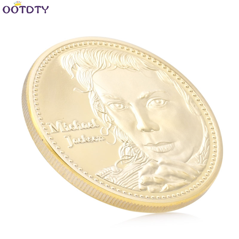 Decoration Crafts Gold Plated The King of POP music star Michael Jackson  Commemorative Coins Art Collection Souvenir Coin-in Non-currency Coins from  Home ... e43dedb79e42