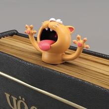 3D стерео мультфильм милые животные закладки милый Кот ПВХ материал забавные ученики детские школьные канцелярские принадлежности для детей подарок