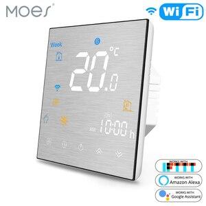 Image 1 - Wi Fi умный термостат регулятор температуры для воды/Электрический пол Отопление воды/газовый котел работает с Alexa Google Home