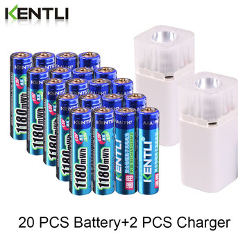 KENTLI 1.5v 1180mWh AAA rechargeable polymer lithium battery + 4 slots aa aaa lithium battery charger with flashlight
