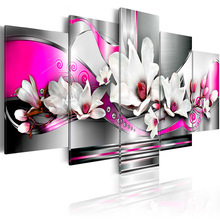 5 pieces/set Classic Flower  Series Picture Print Painting On Canvas Wall Art Home Decor Living Room PJMT-B (208)