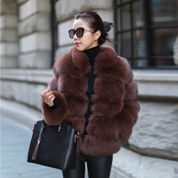 Finland Fox Fur Coat for Women Real Fur Jacket Winter Furry Natural Fur Coat rf0086