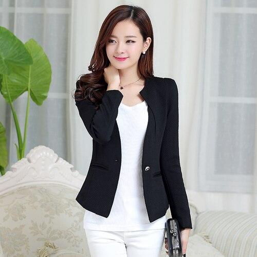 Xmas J61269 Candy Color Blazers Women Business Suit Blazer Jacket Women Blazer Mujer Plus Size Korean Women
