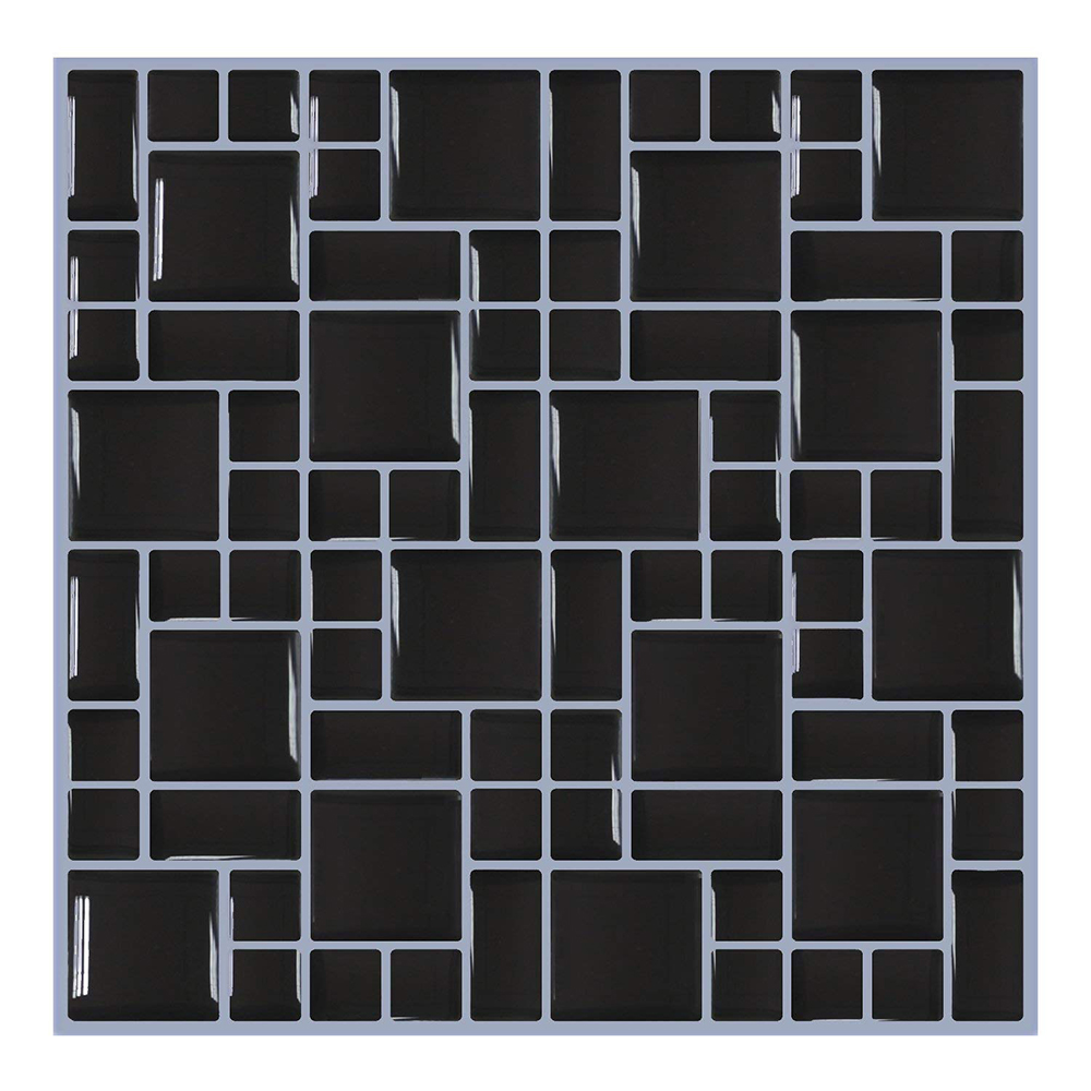 New Trend Self Adhesive Vinyl Waterproof Wall Tile Brick 3D Wall Papers For Bathroom Home Decor Wall Stickers Decals in Wallpapers from Home Improvement