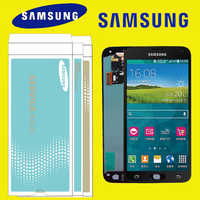Black White ORIGINAL 5.1'' Replacement AMOLED for SAMSUNG Galaxy S5 Display i9600 G900 LCD Touch Screen with SERVICE PACK