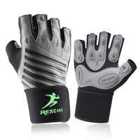 Fitness Gym Glove Männer & Frauen Anti-Slip Silikon Grip Padded Gewicht Heben Handschuhe mit Handgelenk Wrap Crossfit Workout bodybuilding
