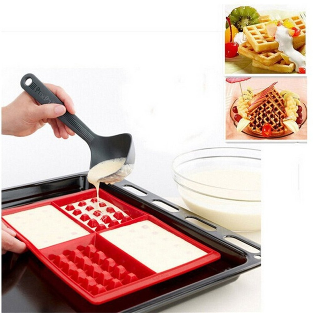 Waffle-Makers Silicone Cake-Mould for Kids Bakeware-Set Nonstick title=
