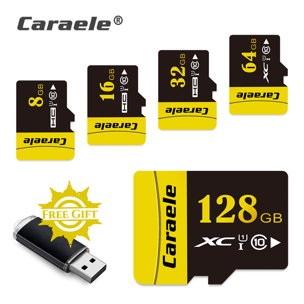 Caraele High Stability Microsd 64GB Memory Card 128 GB 32GB 16GB 8GB Micro SD Card Class10 SDXC Flash TF Card for Tablets Xiaomi футболка классическая printio беззубик и покемон