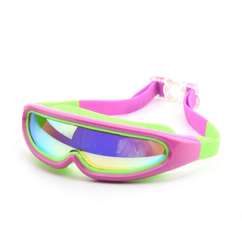 Kinderen Zwemmen bril Professionele Jongens en Meisjes Frame Anti-Fog Kinderen Zwembad Masker Water Swim Eyewear Siliconen duikbril