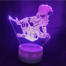 game League of Legends 3D Table Lamp Acrylic LED Night Light Touch 7 Color Party home Decorative Light kids gift Toy lol hot game lol league of legends 18cm assassin time ike complete figure high quality collection toy model toy dolls