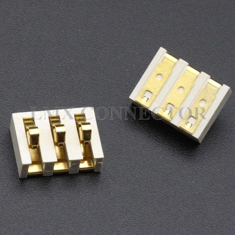 100PCS Set White A Type Battery Holder 3P Interphone Shrapnel Repair Parts Connector GP328 GP88S GP338