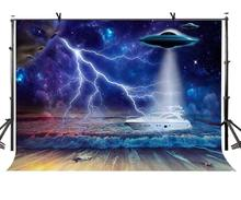 150x220cm Science Fiction Backdrop UFO Alien Elemental Photography Background for Camera Photo Props