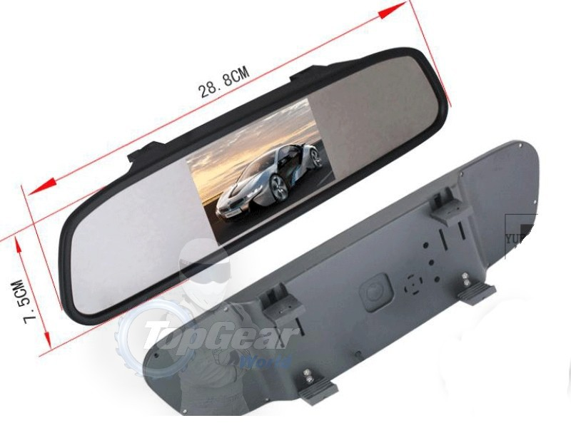 3 in1 Special Rear View Camera + Wireless Receiver + Mirror Monitor Easy DIY Parking System For Volkswagen VW Passat B5 Magotan   4
