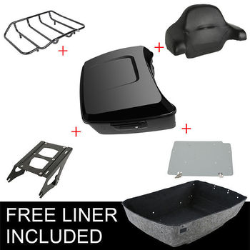 Motorcycle Painted Black King Pack Trunk Luggage Rack For Harley Tour Pak Touring Road King Street Glide Road Glide 2014-2019