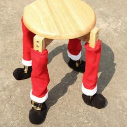 Рождественский стул носочки тканевые перчатки защита пола мебель стол ноги 4 шт Чехлы украшения для вечерние ужин Рождество