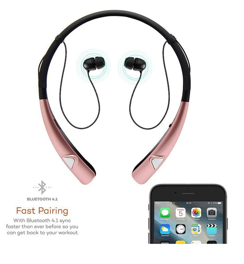 BANMIX 980 Bluetooth earplugs Wireless Stereo Earphone Suitable For Running Sport Neckband Headset For iPhone portable speaker