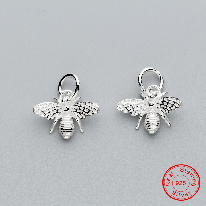 UQBing 1Piece Genuine 925 Sterling Silver Pendant Charm Animal Bee For DIY Bracelet Bangle Necklaces Women Jewelry