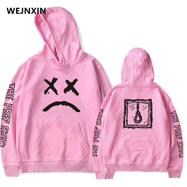 WEJNXIN New Lil Peep Print Hoodies With Hat For Men Women Unisex Fleece Warm Sweatshirt Spring Autumn Winter XXXXL Streetwear