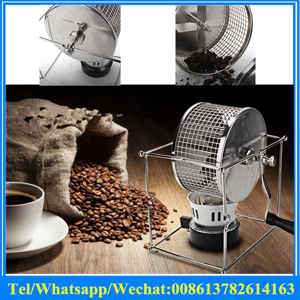 stainless steel mini manual coffee bean roasting machine Small home coffee bean roaster / coffee machine baked beans