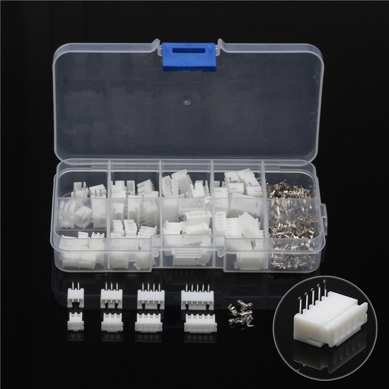 цена на YT 150Pcs/Box 2.54mm 2/3/4/5 Pin Header Jumper Wire Connectors Housing Male Female Crimp Dupont Pin Connector Plug Terminals