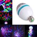 Авто умное вращение 3 Вт E27 RGB AC85-265V магический шар Светодиодная лампа сценический свет лампа для дома вечеринки танцев Развлечения декор Осв...