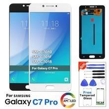 Для samsung Galaxy C7 Pro C7010 ЖК-дисплей с кодирующий преобразователь сенсорного экрана в сборе Замена C7 Pro ЖК-экран+ Инструменты
