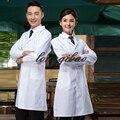 Las mujeres o los hombres blanco Médico Ropa de la Capa de Servicios Médicos de Ropa Uniforme de la Enfermera de manga Larga de Poliéster Proteger batas de Tela