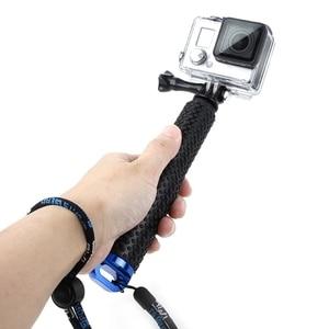 Image 2 - Wysuwany słupek Mini Selfie Stick wodoodporny niebieski Monopod dla GoPro Hero 4/3/3 +