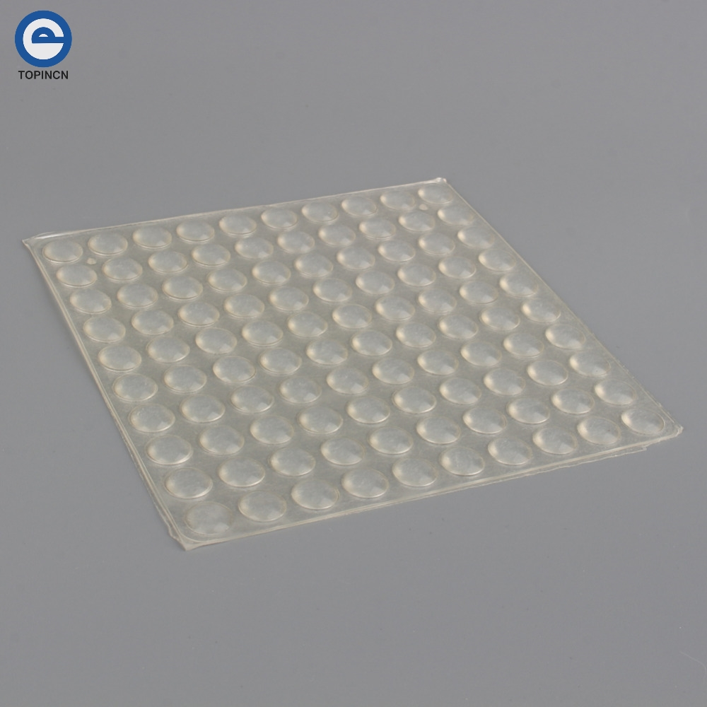 100pcs/Sheet Adhesive Silicone Semicircle Feet Clear Anti Slip Bumper Damper Silicone Shock Absorber Feet Pads Furniture Pad