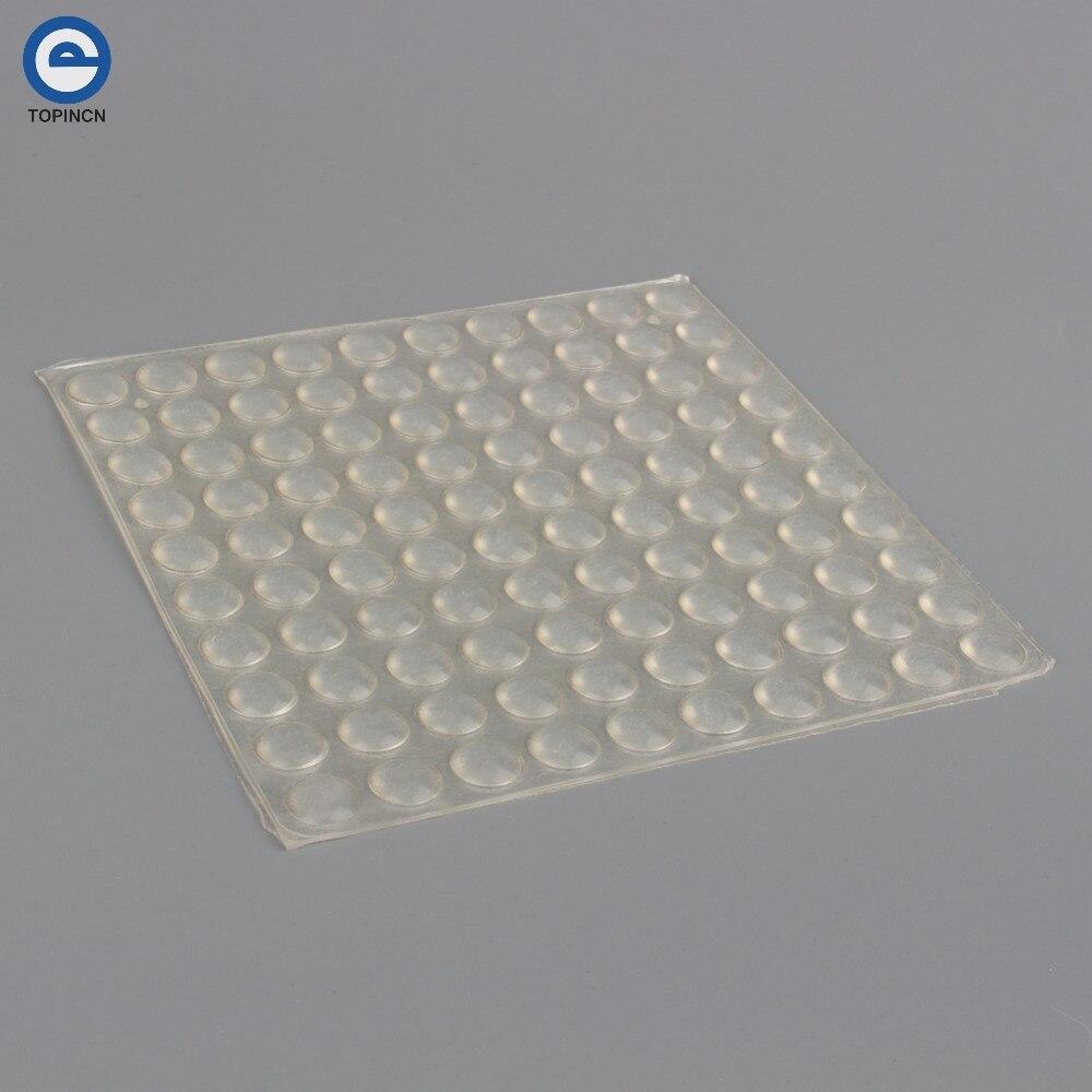 100pcs Sheet Adhesive Silicone Semicircle Feet Clear Anti
