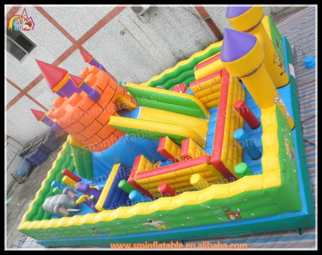 atractivo funcity inflable patio de juegos divertidos nios castillo casa de para