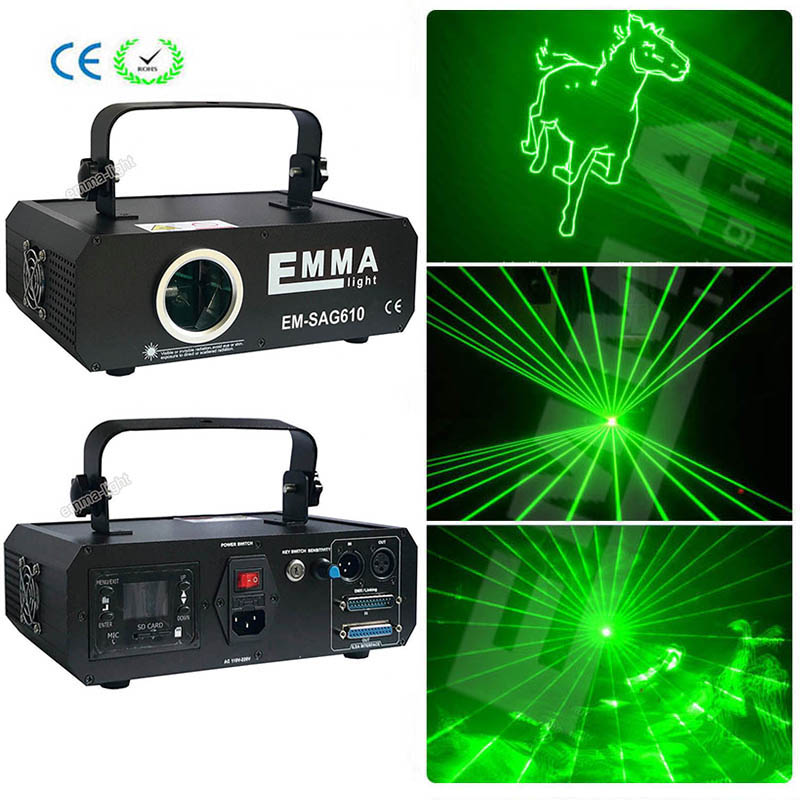 New Arrival DMX 3D Effect 1000mW Green Ilda Full Color Laser Show Lighting DJ Party