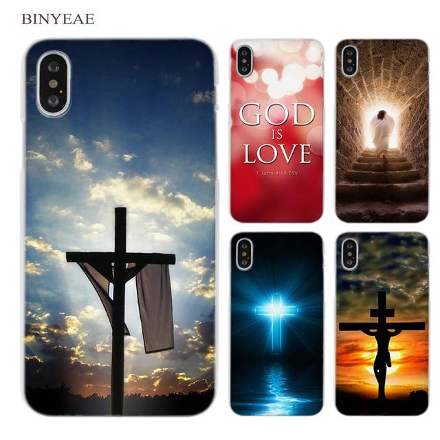 f0bd7437c BINYEAE Christian Jesus Bible Verse Clear Cell Phone Case Cover for Apple  iPhone X 6 6s 7 8 Plus 4 4s 5 5s SE 5c
