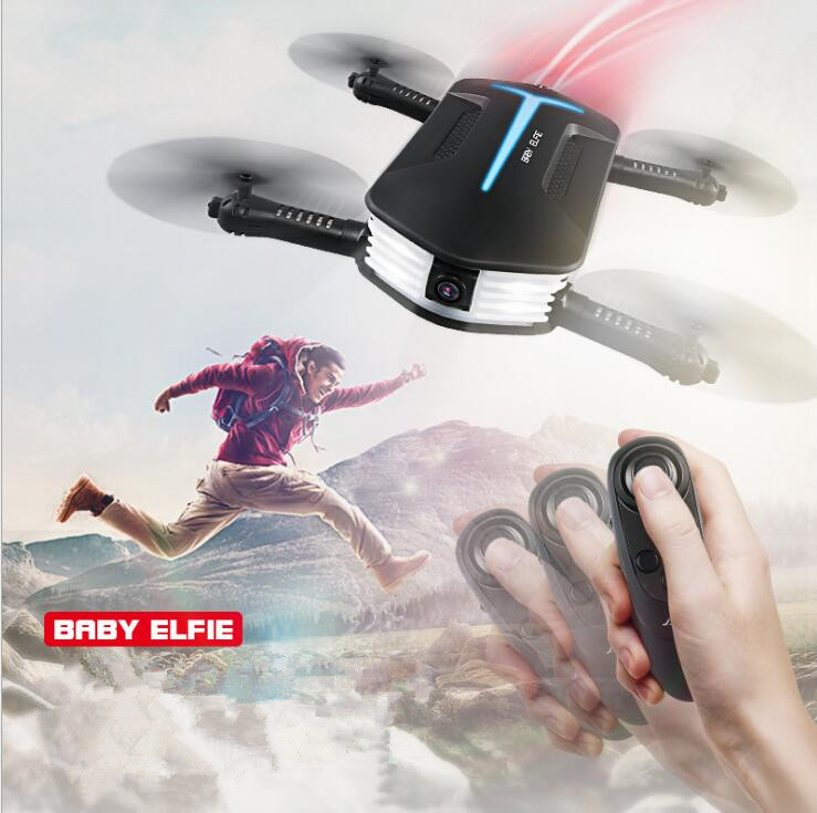 Hot aerial RC H37 quadcopterTracker Foldable Mini Rc Selfie Drone with Wifi FPV 720P Camera G-sensor Altitude Hold&Headless Mode
