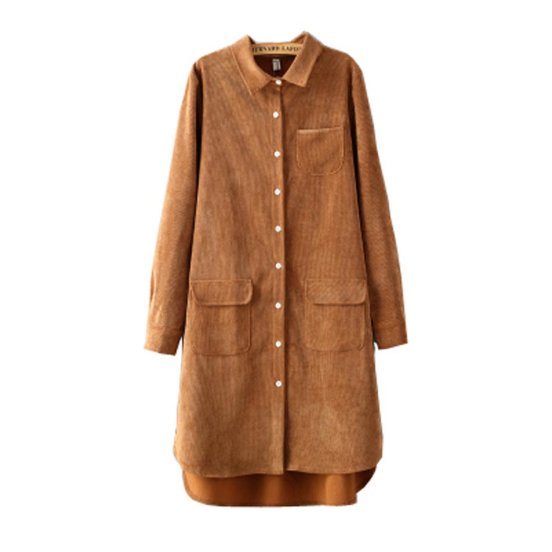 Plus Size Corduroy Big Shirt Bing Images