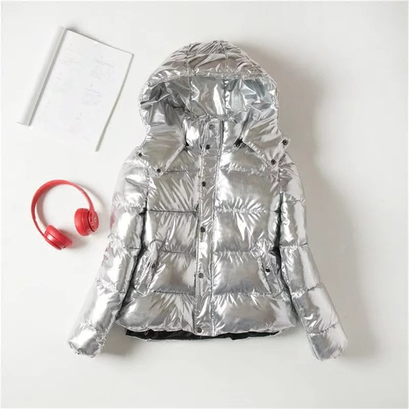 Avec Vente Réel Épais De Manteau Mince Mode D'hiver 2018 Unique Poitrine Plein Femme Chaud Coton Vêtements Argent Chaude Solide Femmes L'ukraine fSdwa