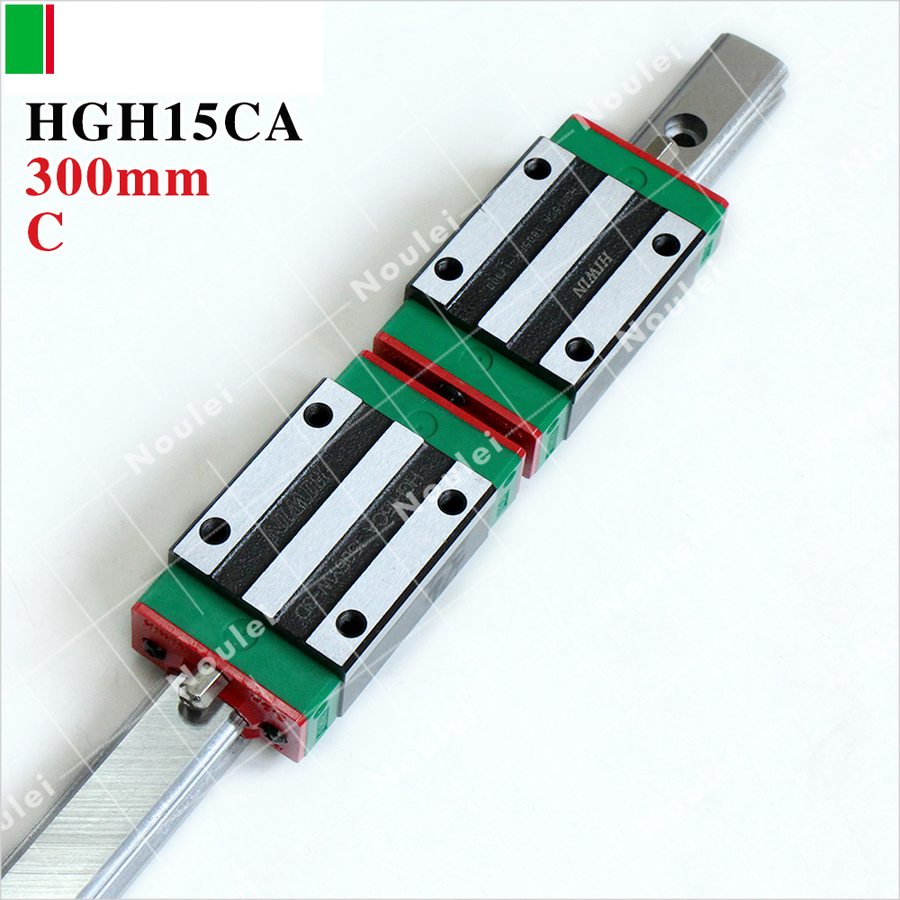 HIWIN HGR15 linear guide rail set 300mm with HGH15CA slide block for CNC z axis hiwin egr15 3000mm linear guide rail 3000 mm for custom length cnc kit