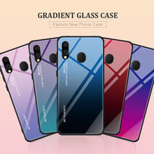 For Samsung Galaxy M20 M10 A30 A50 Case Tempered Glass Gradient Soft Silicone Frame Back Cover For Galaxy M10 M 20 10 A 30 50