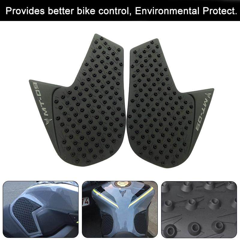 /2017 Adesivo antiscivolo nero serbatoio Traction Pad Side gas ginocchio grip Protector 3/m per Kawasaki Z900/2016/