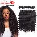 Unprocessed Brazilian Curly Virgin Hair 4 Bundles Brazilian Deep Wave Uglam Hair Bundles Sexy Formula Hair  Free Shipping