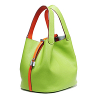 2016 Famous Designer Brand Litchi Grain Leather Bags Women Brand Bucket Handbag Vintage Lock Ladies Shoulder