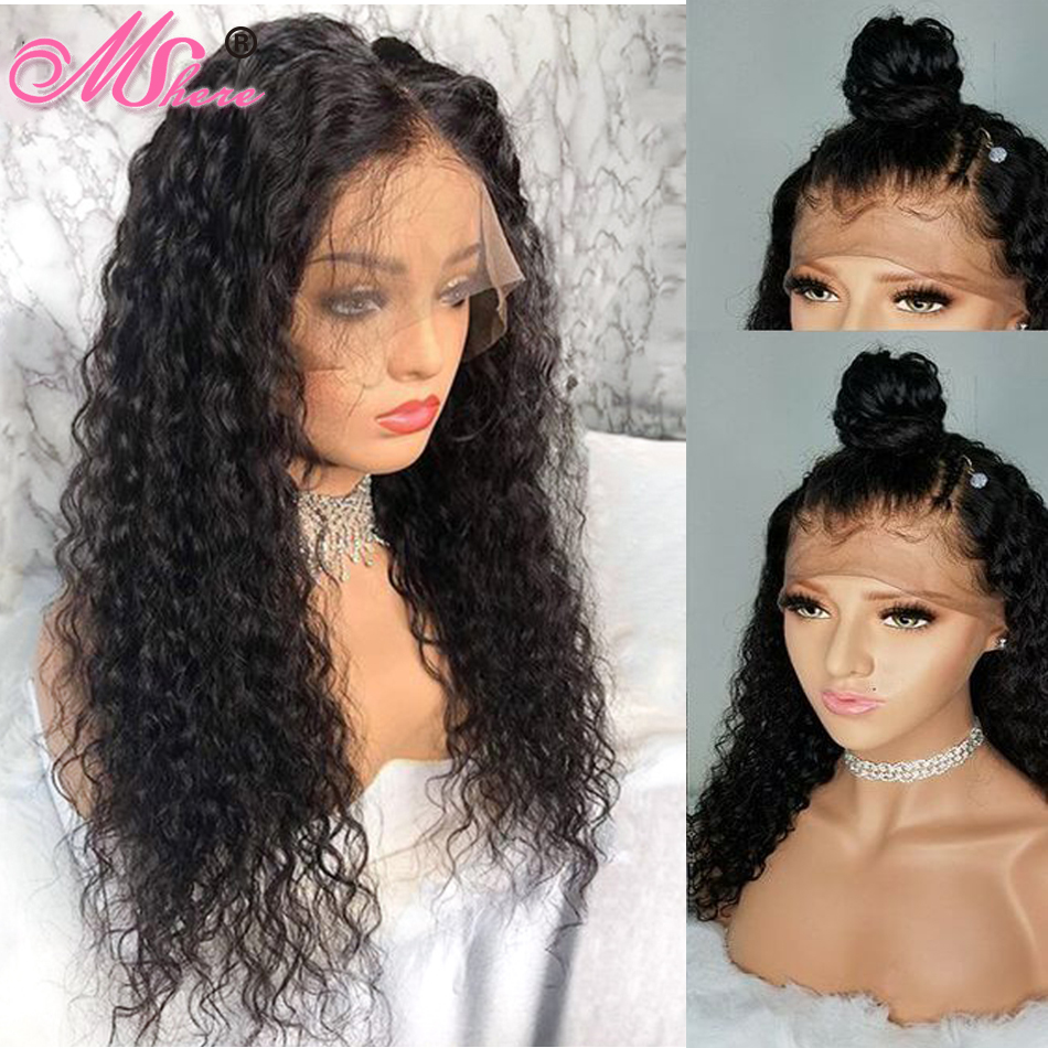 360 Lace Frontal Wig Brazilian Remy Water Wave Wigs 180 Lace Front Human Hair Wigs For