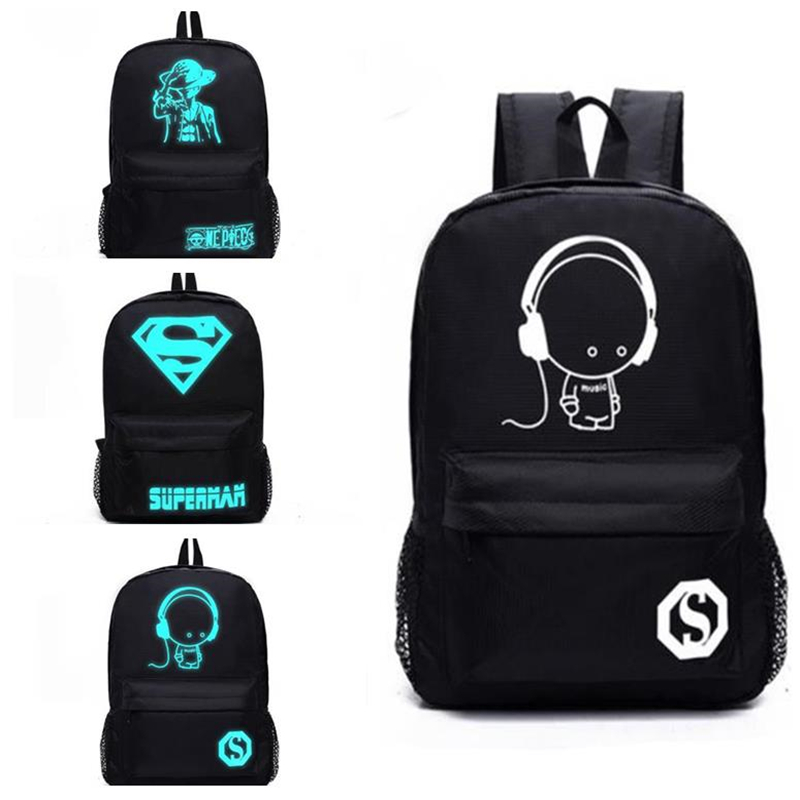 2018 cosplay Anime Senkey Style Student School Backpack Casual Luminous Bag Laptop Backpack Teenager Male Child Boy Bag