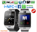 Gv18 plus smart watch teléfono nfc cámara impermeable reloj de pulsera tarjeta sim smartwatch para samsung android teléfono pk dz09 gt08 U8
