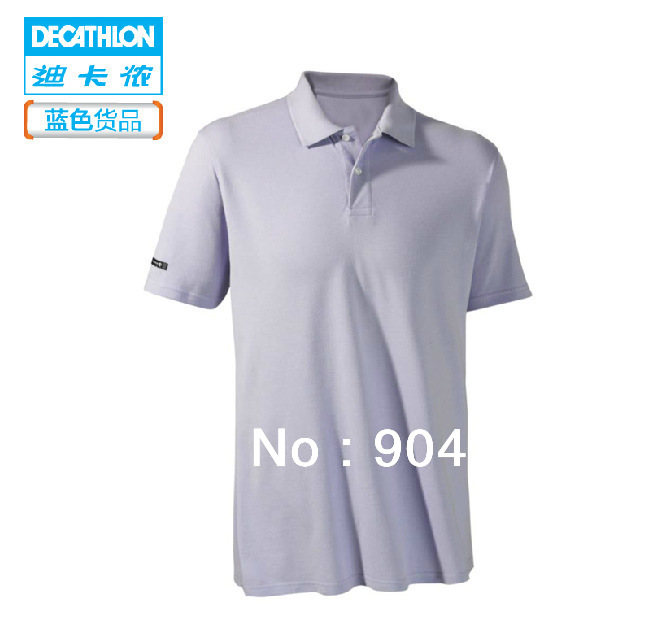 varios tipos de comprar real mejor proveedor Free shipping DECATHLON shirt lapel men short sleeve solid ...