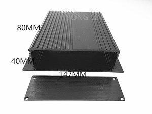 2 шт. алюминиевая коробка/распределительная коробка/алюминиевый корпус 147*40-80 мм Автомобильный Алюминиевый корпус