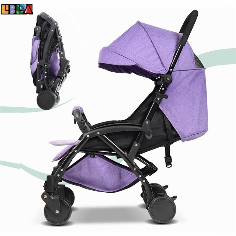 LBLA Lightweight Baby Toddler Stroller Portable Fast-Fold Strollers Sit Lie High Landscape Umbrella Baby Trolley Summer Winter projecta 10530087 fast fold 320x427см 200