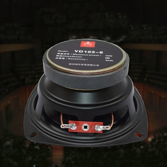 """8 ohm 50W czysty Głośnik basowy 4 cal głośniki pełny zakres 8R Audio 105mm głośnik róg 4"""" trąbka DIY 8ohm"""